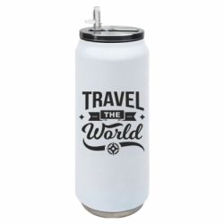 Термобанка 500ml Travel the world and compass
