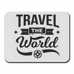 Коврик для мыши Travel the world and compass