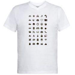 Мужская футболка  с V-образным вырезом Travel - FatLine