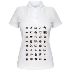 Женская футболка поло Travel - FatLine