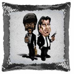 Подушка-хамелеон Travolta & L Jackson