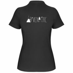Женская футболка поло Trees and mountains