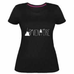 Женская стрейчевая футболка Trees and mountains