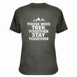Камуфляжна футболка Trek together