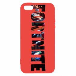 Чехол для iPhone5/5S/SE Trellis in Fortnite logo