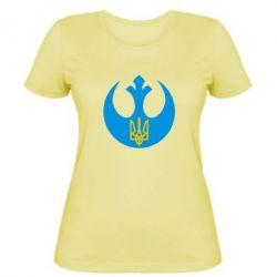 Женская футболка Трезубец