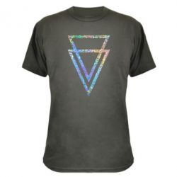 Камуфляжная футболка Triangles Голограмма