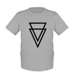 Детская футболка Triangles - FatLine