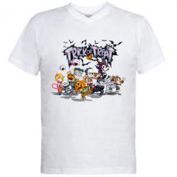 Мужская футболка  с V-образным вырезом Trick or treat - FatLine