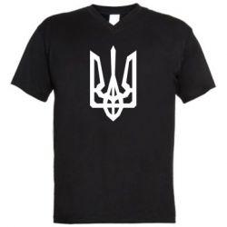 Чоловіча футболка з V-подібним вирізом Trident with curved lines