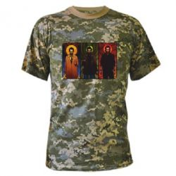 Камуфляжная футболка Трио Сверхъестественное - FatLine