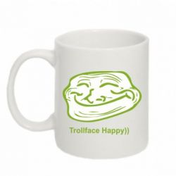 Кружка 320ml Trollface happy