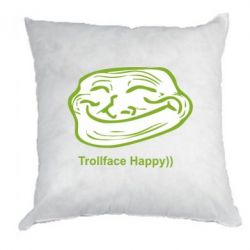 Подушка Trollface happy