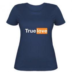 Женская футболка True love