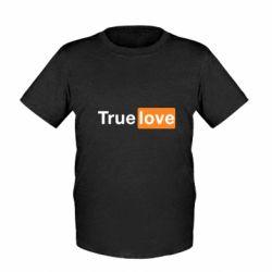 Детская футболка True love