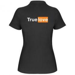 Женская футболка поло True love