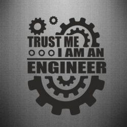Наклейка Trust me, i am an engineer