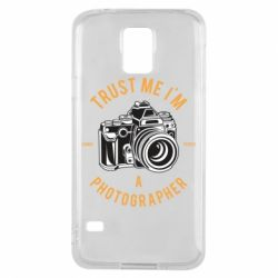 Чохол для Samsung S5 Trust me i'm photographer