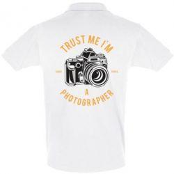 Футболка Поло Trust me i'm photographer