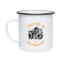 Кружка емальована Trust me i'm photographer