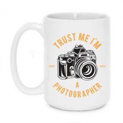 Кружка 420ml Trust me i'm photographer