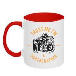 Кружка двоколірна 320ml Trust me i'm photographer