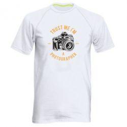 Чоловіча спортивна футболка Trust me i'm photographer