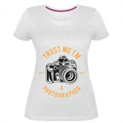 Жіноча стрейчева футболка Trust me i'm photographer