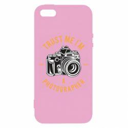 Чохол для iphone 5/5S/SE Trust me i'm photographer