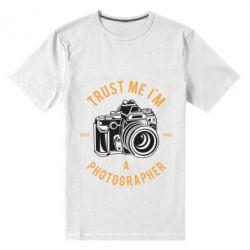Чоловіча стрейчева футболка Trust me i'm photographer