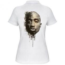 Купить Женская футболка поло Tupac Shakur, FatLine