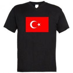 Мужская футболка  с V-образным вырезом Турция - FatLine