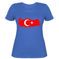 Женская футболка Turkey - FatLine