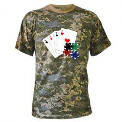 Камуфляжная футболка Тузы - FatLine