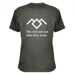 Камуфляжная футболка Твин Пикс совы