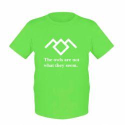 Детская футболка Твин Пикс совы