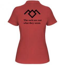 Женская футболка поло Твин Пикс совы