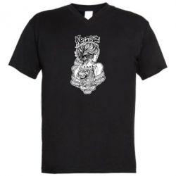 Чоловіча футболка з V-подібним вирізом Твоя душа як музей