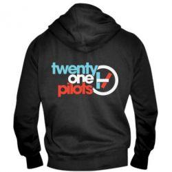 Чоловіча толстовка на блискавці Twenty One Pilots Logo