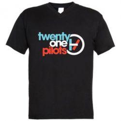 Чоловіча футболка з V-подібним вирізом Twenty One Pilots Logo