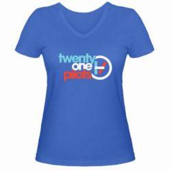 Жіноча футболка з V-подібним вирізом Twenty One Pilots Logo