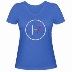 Жіноча футболка з V-подібним вирізом Twenty One Pilots Logotype