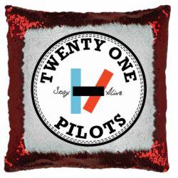 Подушка-хамелеон Twenty One Pilots Stay Alive