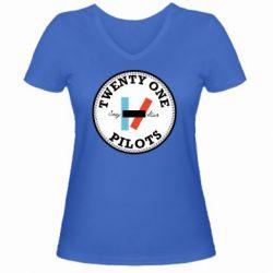 Жіноча футболка з V-подібним вирізом Twenty One Pilots Stay Alive