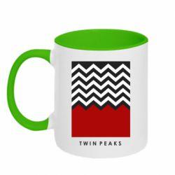 Кружка двухцветная 320ml Twin pix poster