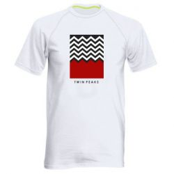 Мужская спортивная футболка Twin pix poster