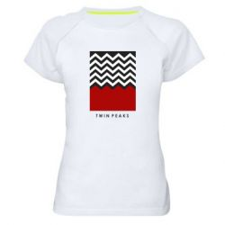 Женская спортивная футболка Twin pix poster