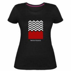 Женская стрейчевая футболка Twin pix poster