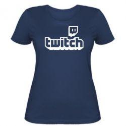 Жіноча футболка Twitch logotip