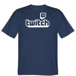Чоловіча футболка Twitch logotip